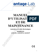 Fiche Technique - Autoclaves de Paillasse - 032105 - Mode d%27emploi