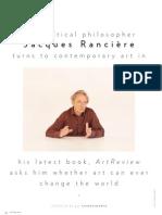 Jacques Ranciere (Art Review, Issue 40, April 2010)