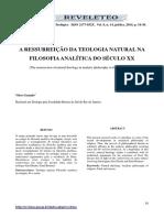 A Ressurreição Da Teologia Natural Na Filosofia Analítica