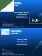 Tarjeta Prometalsim 2018
