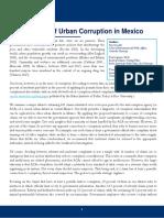 A Diagnostic of Urban Corruption in Mexico
