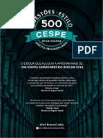 500 Questões Estilo Cespe - Direito Previdenciário (2018)