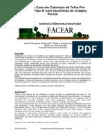 Estudo de Caso Em Cobertura de Telha Pre Fabricada Tipo w Com Ocorrencia de Colapso Parcial