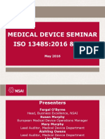 Medical device iso 13485:2016