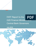 FATF Report to G20 Finance Ministers and Central Bank Governors 2018