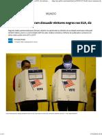 Trolls Russos Tentaram Dissuadir Eleitores Negros Nos EUA,