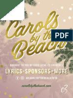 Carols by the Beach | Lyric Booklet