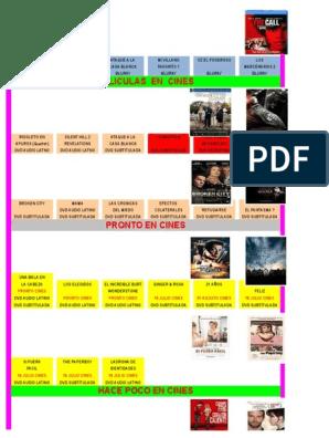 Listados Peliculas y Otros xls | Películas de acción | Ocio