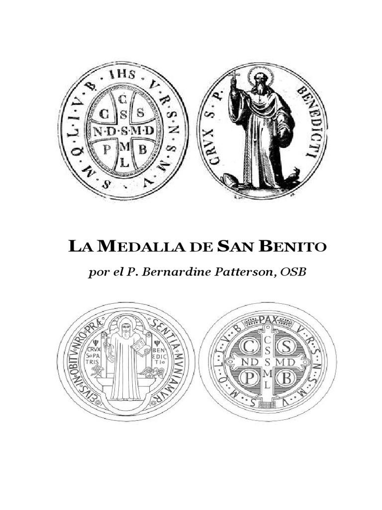 Medalla Medalla De San Benito La La De m0wN8n