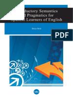 Semantics and Pragmatic Ssp Learners of English
