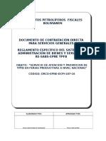 Dcd Modelo Servicios Generales - Re Sabs Epne Ypfb Serv de Atenc y Prom de Ypfb en Ferias