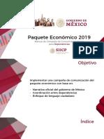 SHCP - Estrategia Dependencias Presupuesto 2019