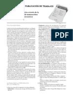 Normas Para La Publicación de Trabajos Revist SED 2017