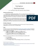 Yelp Explorers Report
