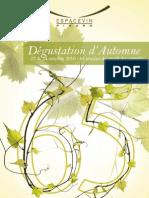 Programme dégustation d'automne 2010