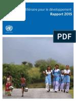 Objectifs Du Millénaire Pour Le Développement Rapport 2015