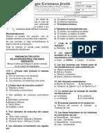 Evaluación Sistema Muscular (Colegio Cristiano Jireth)