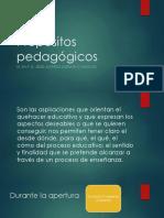 Propósitos pedagógicos