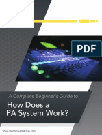 How Does a PA System Work? Beginner's Guide eBook