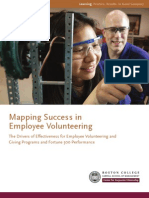 Mapping Success in Employee Volunteering