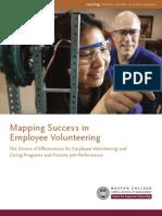 Mapping Success in Employee Volunteering