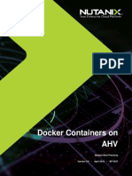 Docker Containers on AHV
