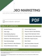 B2B Video Marketing Benchmark Report