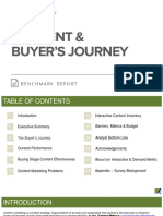 Content & Buyer's Journey Benchmark Report