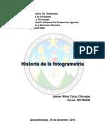 Historia de La Fotogrametra