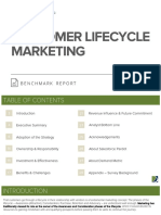 Customer Lifecycle Marketing Benchmark Report