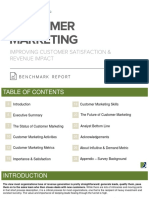 Customer Marketing Benchmark Report