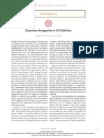 Dopamine Antagonists in ICU Delirium