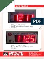 Autolite GPS Clock