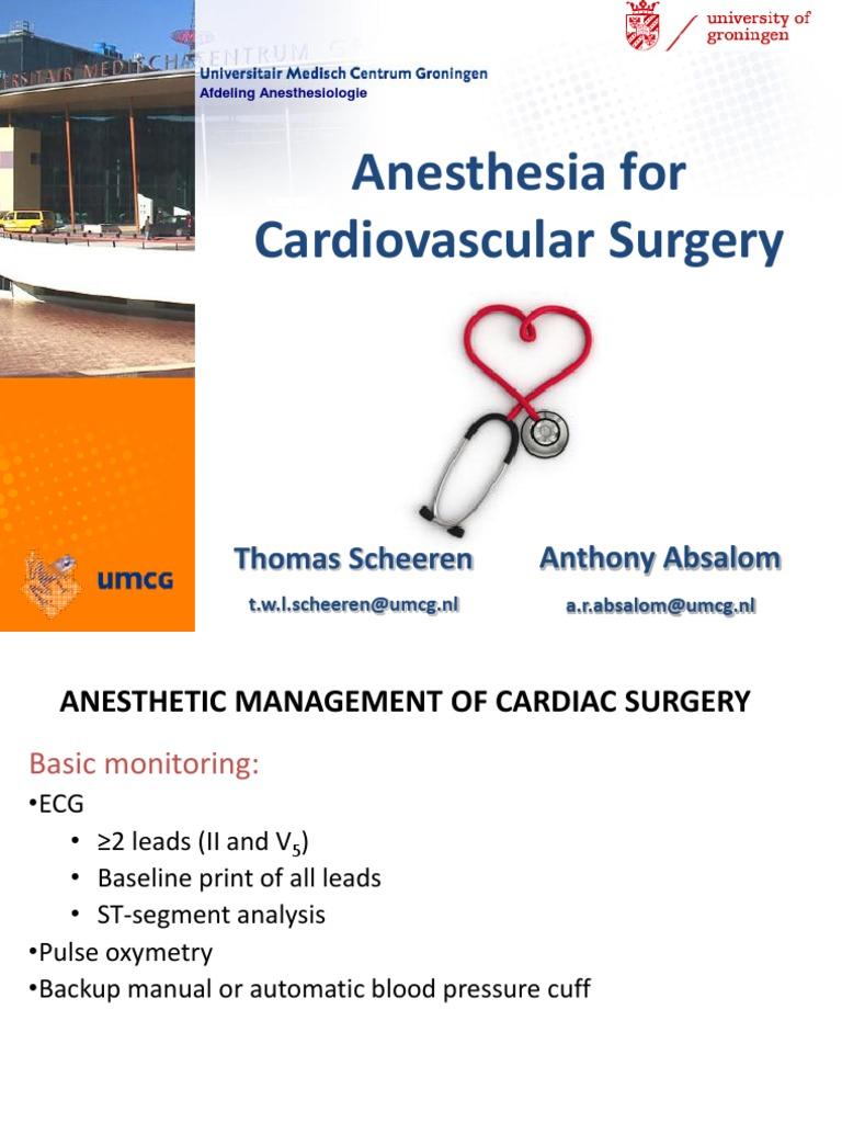 Cardiac Anesthesia pdf | Anesthesia | Heart