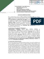 MODELO DE ACTA DE AUDIENCIA ÚNICA DE ALIMENTOS