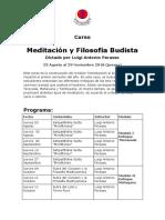 Meditacion y Filosofia 2º Semestre 2018