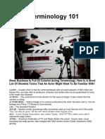 Acting Terminology 101