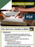 Porque Leer y Estudiar La Biblia