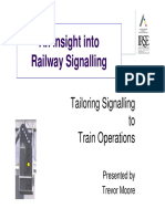 Tailoring Signalling to Train Operations (T Moore)