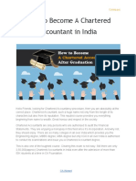 How to Become a Chartered Accountant in India