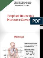 Imunidade Mucosas e Secreções