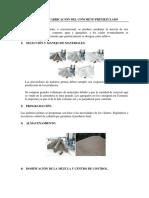 Proceso de Fabricación Del Concreto Premezclado