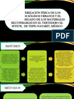 CARACTERIZACIÓN FÍSICA DE LOS RESIDUOS SÓLIDOS URBANOS Y EL VALOR AGREGADO DE LOS MATERIALES RECUPERABLES EN EL VERTEDERO EL IZTETE,  DE TEPIC-NAYARIT, MÉXICO