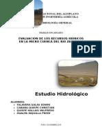 Estudio Hidrológico Cuenca Río Zapatilla 2015 1