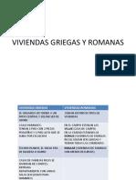Viviendas Griegas y Romanas
