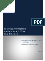 04-28-2015 PROVEEDORES Guía de Usuario Página de Proveedores y Contratistas