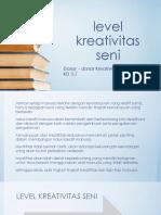 KD 3-7 Level Kreativitas Seni