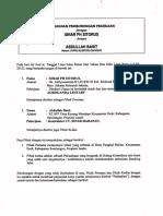 Contoh Saja Surat Perjanjian