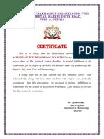 Certificate b Pharm New NEW