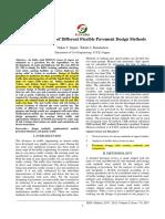 Comparative Study of Different Flexible Pavement Design Methods
